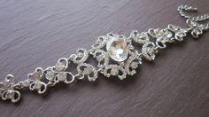 Stunning crystal bridal bracelet. Wedding by TamarAndTalya on Etsy