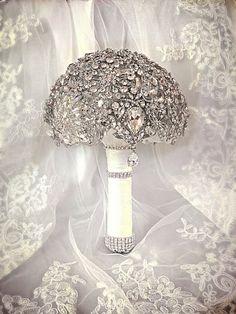 Wedding Brooch Bouquet. Deposit on made to order door NatalieKlestov, $55.00