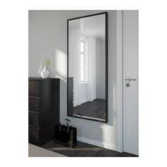 IKEA STAVE mirror Can be hung horizontally or vertically.