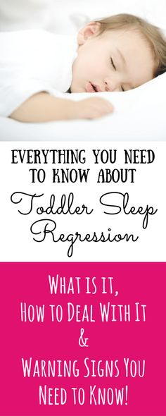 Learn everything you need to know about toddler sleep regression, how to get your toddler to sleep better, and what you need to look out for. Toddler sleep tips and advice. Click to read the full post!
