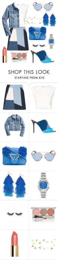 """50 Shades Of Blue Look"" by rea-godo ❤ liked on Polyvore featuring Victoria, Victoria Beckham, Puma, J.Crew, Malone Souliers, Sara Battaglia, Christian Dior, Humble Chic, Citizen, Violet Voss and Chantecaille"