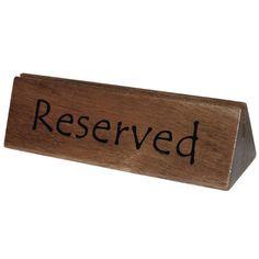 Juego de 10 soportes para menús y señal de reservado Olympia