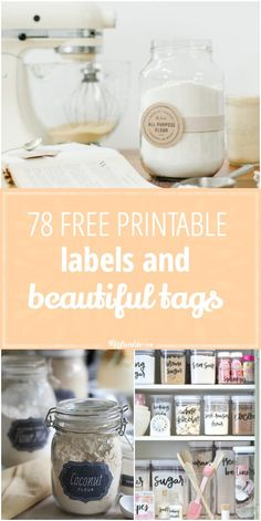 Organize and enrich your life with these 78 Free Printable Labels and Tags! via with love tags free printable jar labels 78 Free Printable Labels and Beautiful Tags Soap Labels, Candle Labels, Pantry Labels, Canning Labels, Canning Recipes, Printable Lables, Free Printables, Free Printable Tags, Printable Recipe