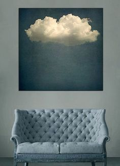 salon sous nuage Living cloud art by Chessy Welch Interior Inspiration, Design Inspiration, Bedroom Inspiration, Cloud Art, Home And Deco, Canvas Art Prints, Wall Prints, Wall Design, Design Art