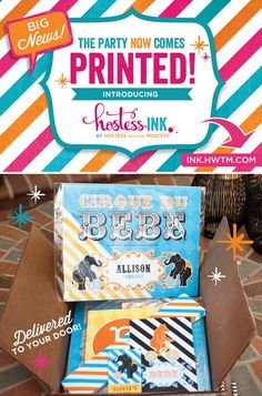BIG NEWS: The party now comes PRINTED! Visit ink.hwtm.com to shop our new store + click to read a personal note on the launch!
