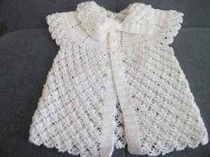 Beyaz berdolu örgü kız çocuk yelek   Örgü Modelleri - Örgü Dantel Modelleri