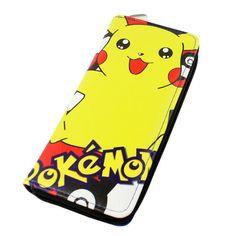 Pokemon Pikachu and Ash Long Zipper Wallet