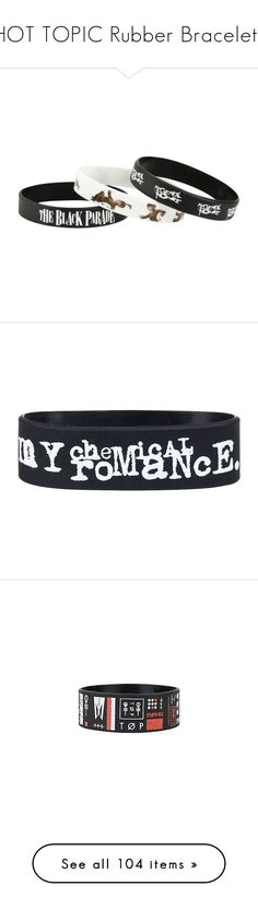"""HOT TOPIC Rubber Bracelets"" by serenah-gummie-bear ❤ liked on Polyvore featuring jewelry, bracelets, multi, rubber bangles, rubber jewelry, accessories, roaring twenties jewelry, 1920s jewelry, 1920s style jewelry and band merch"
