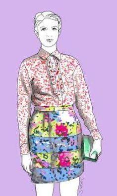 Neu im Blog: So trägt die avantgardistische, extravagante Frau den angesagten Flower-Look.