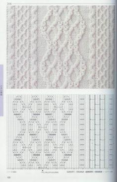 схемы узоров к пальто