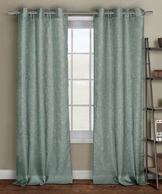Dusty Blue Sydney Embossed Curtain Panel - Set of Two #zulily #zulilyfinds