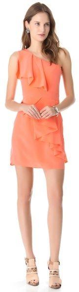 (Was $375.0) $112.5  Shoshanna Sadie One Shoulder Dress