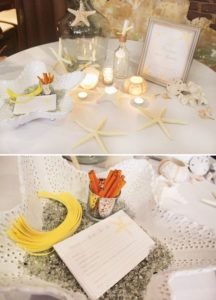 message in a bottle bridal advice