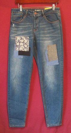 4ddd1cf2 NWT Womens R 1893 Roebuck & Co. Missy Patch Skinny Jeans Size 14 Reg