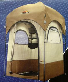 Northpole Black Canyon Shower Changing Tent w/Camp Shower Organizer Towel Bar...WANT