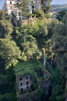 While walking to an Italian cooking class, in Sorrento, Italy, the 4 JL's spotted a beautiful view of an old flour mill. #travel #traveldestinations #italy #sorrento #familytravel #travelwithkids #travelphotography