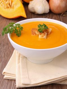 Creamy, Dairy-Free Soup, Serve This, Not That Pureed potatoes. Dairy Free Soup, Dairy Free Recipes, Healthy Recipes, Vegan Junk Food, Vegan Sushi, Cooking On A Budget, Pumpkin Soup, Food Categories, Special Recipes