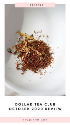 Did you know that you could try premium loose leaf tea for a dollar? Introducing Dollar Tea Club where you can do just that! Visit the blog for my review of their October 2020 box.   #looseleaftea #tea #caffeine #dollarteaclub #wellness #selfcare #relax Monthly Subscription, Subscription Boxes, Tea Club, Black Tea Leaves, Honey Sticks, Ginger Peach, Still Tasty, Premium Tea, Tea Blends