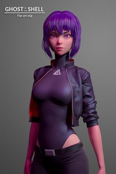 Ghost in the shell WIP, Olya Anufrieva 3d Model Character, Cyberpunk Character, Cyberpunk Art, Female Character Design, Character Modeling, Character Art, Character Concept, Chica Fantasy, Fantasy Girl