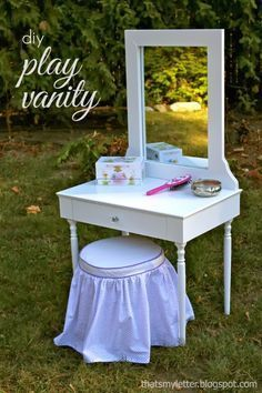 "That's My Letter: ""P"" is for Play Vanity, diy kids play vanity with free build plans from Ana White"