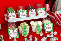 Candy at a Christmas Sweet Shoppe Party #christmas #sweets