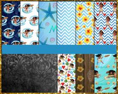 Moana Digital Paper Digital Papers, Moana, Etsy Store, Vibrant Colors, Card Stock, I Shop, Banner, Quilts, Awesome