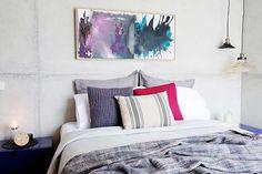 The Block Sky High: Room Reveal: Kim + Matt's bedroom Bedroom Wardrobe, Home Bedroom, Kids Bedroom, Master Bedroom, Bedroom Ideas, Bedrooms, The Block Glasshouse, Interior Styling, Interior Design