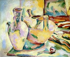 Still Life with Jugs and Pipe, 1906 OilPainting by Georges Braque (France)