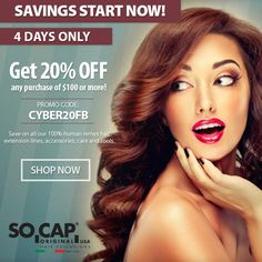 20% OFF OUR ENTIRE SITE! Shop: https://www.socaporiginalusa.com/  #cybermonday #happyshopping #sale #online #discount #women #hair#socap #sobehair #hair #extensions #hairextensions #love #beauty #classic #longhair #long #brunette #blonde #black #edgy #gorgeous #women #style #trend #hairandmakeup #stylist #haircut #fashion #highlights #blowdry #straight #curly #wavy #bangs #ombre #inspiration #haircolor #color #people