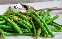 Citroen Knoflook Sperzieboontjes. Hoe je van hele simpele groenten erg lekkere bijgerechten maakt!