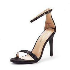 035febf2dfa6 DREAM PAIRS Women s Karrie-Shine Black High Stiletto Pump Heel Sandals Size  10 B(