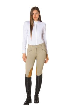 This crossover pant is a versatile staple that works for both equestrian sport and everyday wear. Equestrian Outfits, Equestrian Style, Equestrian Fashion, Riding Pants, English Riding, Horse Riding, Riding Helmets, White Jeans, Bodysuit
