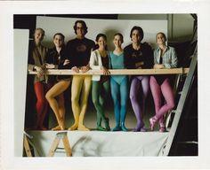 The faces behind the iconic rainbow photo. From left to right Christina Foisie, Suzette Boyer, Ian Barrett , Debra Kelly, Lisa Moran, Thomas Morris, Tami Alesson.