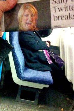 Bored Commuter's Newspaper Photobombs - Photography - ShortList Magazine