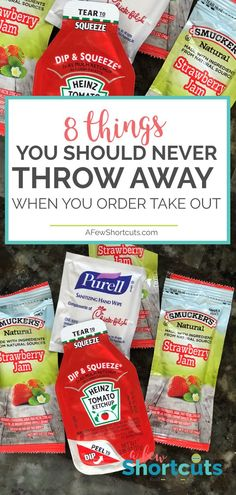 Don't waste anything! Check out this everyday shortcut and learn the 8 things you should never throw away when you order take out!