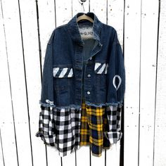 Kids Denim Jacket, Denim Jackets, Jean Jackets, Nyc Studio, Printed Shirts, Wren, Outfits, Denim Fashion, Women's Fashion