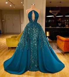 Elegant Navy Mermaid Evening Dresses with Detachable Train 2020 Sequins Keyhole Sexy Prom Gowns Beads Formal robe de soiree - pageant dresses Gala Dresses, Event Dresses, Formal Dresses, Couture Dresses Gowns, Mini Dresses, Wedding Dresses, Japonese Girl, Beaded Prom Dress, Mermaid Evening Dresses