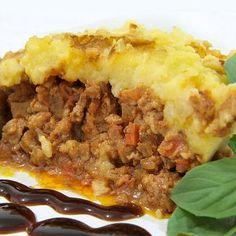 Pastel de Carne con patatas. Una receta ligera para los niños