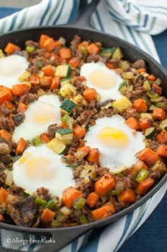 Sweet Potato Breakfast Skillet with Sausage. I LOVE one skillet meals! {gluten-free, paleo}