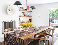 A SIMPLE DINING ROOM #interiordesign #recreated #midcentury #ethnic #industrial