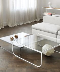Tati Sofa table too wide but would like some thing like this or a white marble top one.