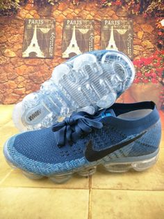 finest selection 15b0c 045f1 NIKE AIR VAPORMAX FLYKNIT Light blue white