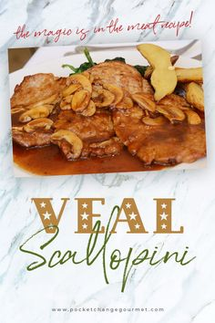 Learn about veal and one of them most popular ways to prepare it: scallopini. You'll find two of our best recipes that serve up veal scallopini in two delicious and flavorful redux sauces. Entree Recipes, Beef Recipes, Cooking Recipes, Healthy Recipes, Veal Scallopini, Veal Cutlet, Veal Piccata Recipe, Kitchens