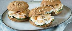 Nice sandwich with cucumber, chicken and cottage cheese
