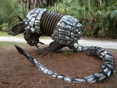 Armadillo sculpture by Paul Eppling