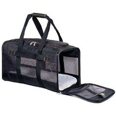 pets / Sherpa Original Deluxe Pet Carrier, Large, Black