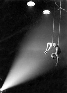 Frank really came through on his threat to hang her out to dry, Arlene admitted grudgingly (maryse begary, cirque d'hiver, paris • 1950)