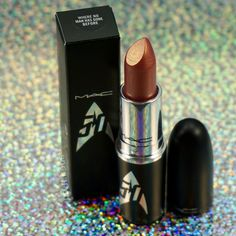 MAC Cosmetics limited edition Star Trek collection lipstick in 'Where No Man Has Gone Before'.