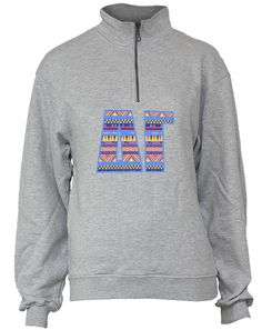 Delta Gamma Tribal Half Zip