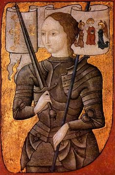 A lady in armour  Jehanne d'Arc (1412-1431), 1485